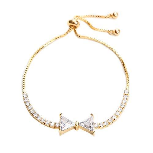 Tennisarmband 14K vergulde zirconia klassieke armband gouden armbanden voor dames