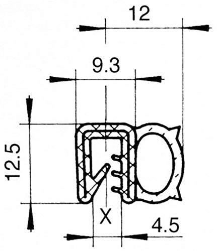 EUTRAS Dichtungsprofil KSD2055 - 2