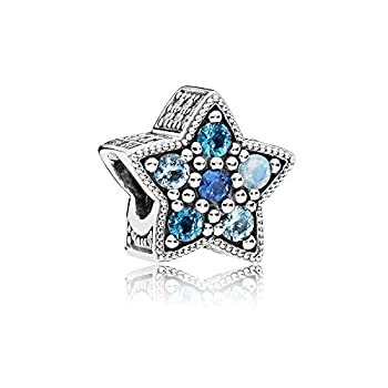 Pandora Sterling Silver Bright Star Multi-Colored Charm 796379NSBMX