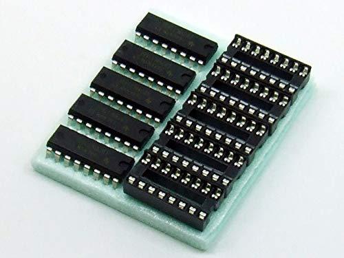 POPESQ® 5 Stk. x 74HCT165 mit Sockel 8-BIT SHIFT REGISTER / 5 pcs. x 74HCT165 with Socket 8-BIT SHIFT REGISTER #A2334