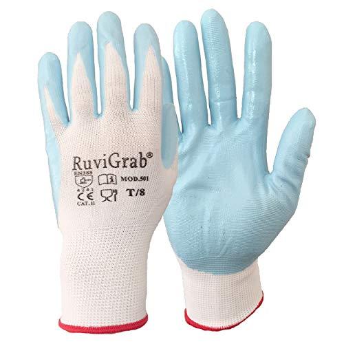 Ruvigrab Guante soporte nylon, recubrimiento nitrilo alimentario