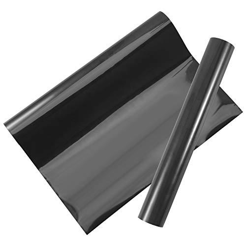 Opopark Flex Thermocollant Textile pour Tissu 30 x 300cm Papier de Transfert en Vinyle Pailleté, Film Thermocollant Feuille Transfert Textile Adhésive pour DIY Vêtement Bricolage Meuble Cuisine, Noir
