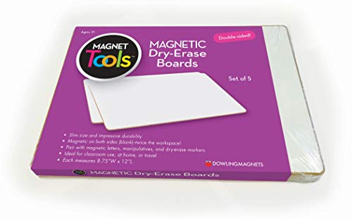 Dowling Magnets Magnetic Dry-Erase Boards (Double-Sided Blank), 5 Pack, 12' Long x 8.75' Wide (735207)