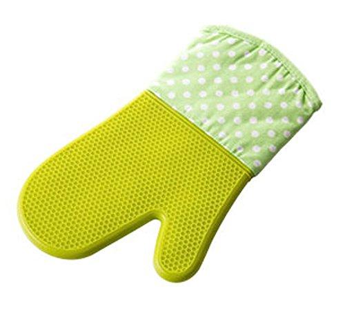 belle silicone durable four Mitt cuisine isolée gant, unique, vert