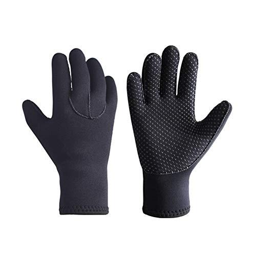 3 mm de Neopreno Guantes de Buceo Guantes Anti Slip Traje de Neopreno térmico Flexible para el Snorkeling Surf natación Vela Kayak Buceo 1set Negro XL