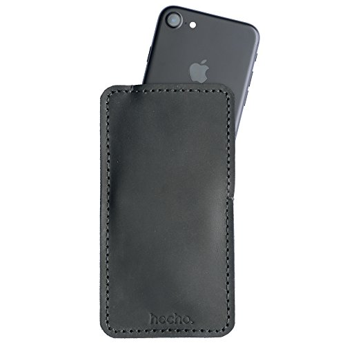 hecho. Lederhülle für iPhone 6s, 7 & 8 - Handgefertigt, Leder & Fair-Trade (Ledertasche, Tasche, Hülle, Cover, Sleeve, Etui)