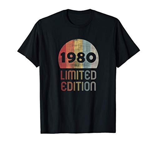 41 Años Cumpleaños Hombre Mujer Regalo 1980 Limited Edition Camiseta