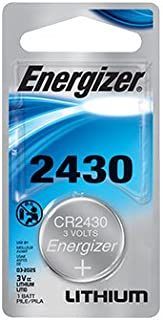 Energizer CR2430 3v Lithium Coin Cell - Retail Blister Pack of 1