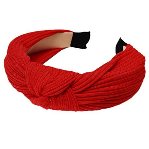 Haarreif in kräftigen Farben, dicke Haarreifen, gedrehte Schleife, für Make-up, Party, koreanisch, gerippt, gestreift, breites Stirnband