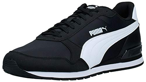 PUMA St Runner V2 NL, Zapatillas Unisex Adulto, Negro Black White, 42.5 EU