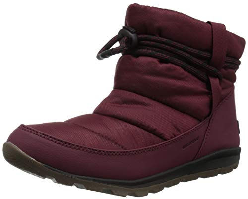 Sorel Women's Whitney Short Snow Boot, rich wine, black, 7.5 M US