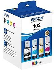 E Epson 102 CMJN Ecotank-fles, zwart, cyaan, geel, magenta