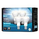 ロハス LED電球 E17口金 ミニレフランプ形 50W形相当 昼白色 600lm 下方向 ミニレフ電球 密閉形器具対応 4個入