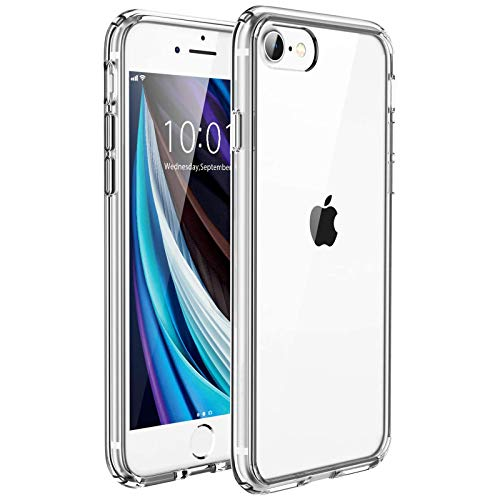UNBREAKcable Kompatibel mit iPhone SE 2020 Hülle, iPhone 8/7 Hülle [Anti-Gelb] - Handyhülle iPhone SE 2020/8/7, Hartplastik Rückseite & Weich Silikon Bumper Durchsichtig Schutzhülle, Case Transparent