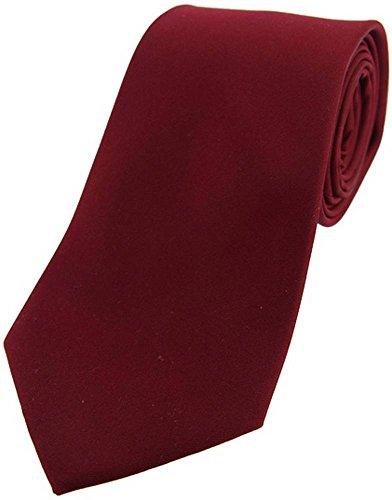 David Van Hagen Cravate rouge satin de soie de