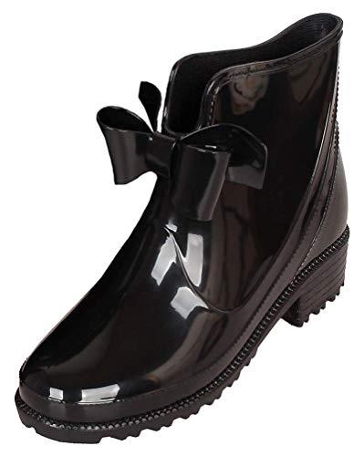 Womens Bow Rain Shoes Anti Slip Wellington Boots