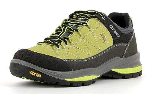 Grisport Unisex Schuhe Herren und Damen Terrain Low Gritex Trekking- und Wander- Halbschuh aus hochwertigem Wildleder, Membrankonstruktion, Vibram-Sohle Gelb (V8), EU 37