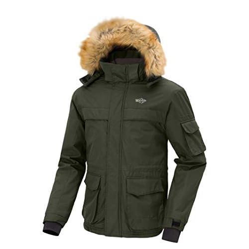 41Fy4bg5P5L. SS500  - Wantdo Men's Mountain Hiking Jacket Outdoor Windproof Ski Jacket Water Resistant Windbreaker Jacket Hooded Warm Fleece…