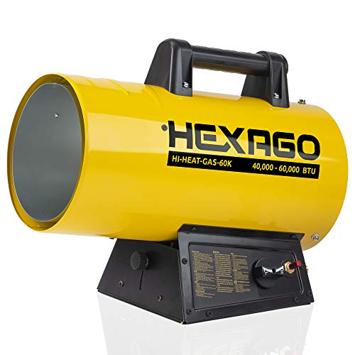 HEXAGO - 60,000 BTU Adjustable Portable Liquid...
