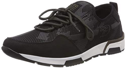 TOM TAILOR Herren 5885202 Sneaker, Schwarz (Black 00001), 44 EU