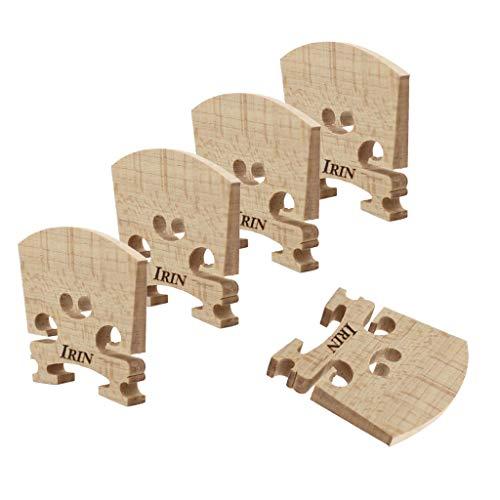 Almencla 5pcs Ahorn Brücke Bridge Geigensteg Zubehör für 4/4 Violine / Geige, Premium Qualität