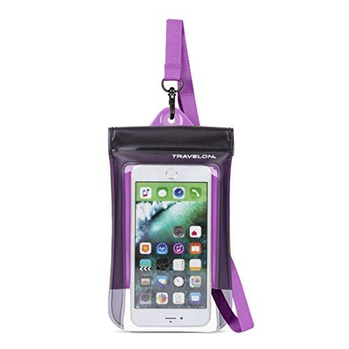 Travelon Floating Waterproof Smart Phone/Digital Camera Pouch, Purple