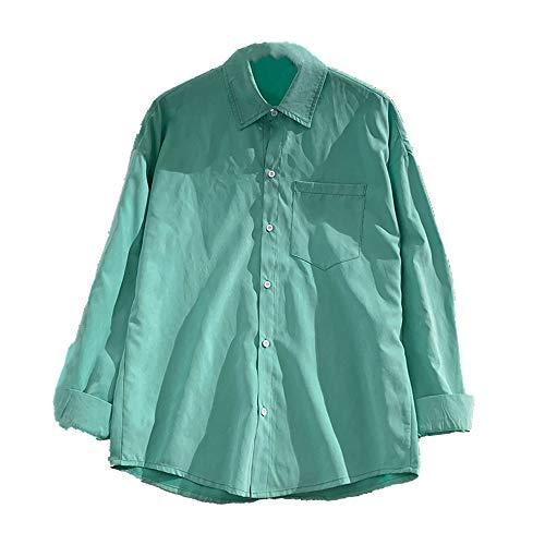 N\P Gran Tamaño de la Camisa de principios de otoño Harajuku de las Mujeres Ligero maduro Suelto Camisa de Manga Larga