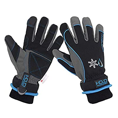 Waterproof & Windproof Winter Gloves for Men, Touchscreen Thermal Gloves for Cold Weather, Ski Snowboard Work Gloves with 3M Warm Lining (M, Blue)