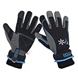 Waterproof & Windproof Winter Gloves for Men Women, Touchscreen Thermal Gloves for Cold Weather, Ski Snowboard Work Warm Gloves (L, Blue)