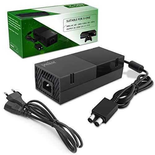 Xbox One Netzteil Brick, Xbox Power Supply Brick AC Ladegerät für Xbox One Konsole Ersatz Kit Netzteile Brick EU Ladekable, 100-240V [Verbesserte Leise Version]