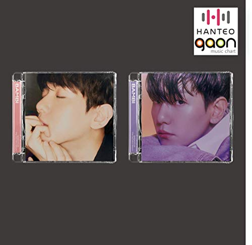 Baekhyun - Bambi [Jewel Case Dreamy+Misty Full Set ver.] (The 3rd Mini Album) [Pre Order] 2CD+2Folded Poster+Others with Tracking, Extra Decorative Stickers, Photocards
