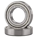 XiKe 2 Pcs 6005ZZ Double Metal Seal Bearings 25x47x12mm, Pre-Lubricated and Stable Performance and Cost Effective, Deep Groove Ball Bearings.
