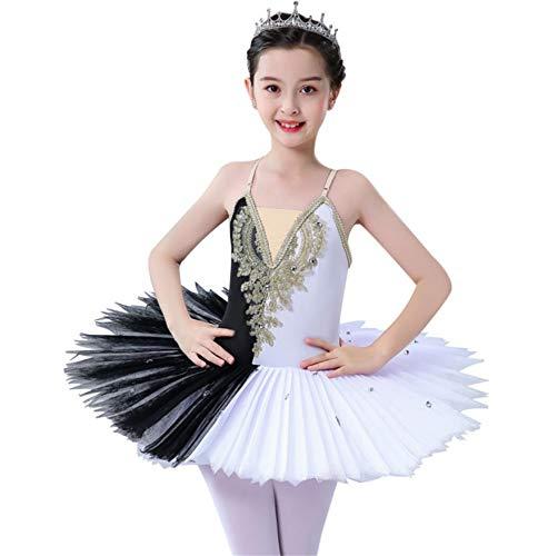 ZYLL Profesional de Ballet Ballet Tuts para nias Nio Lago de los cisnes Vestido de la Danza de la Bailarina Ropa Pancake Figura Vestido de Patinaje,150CM