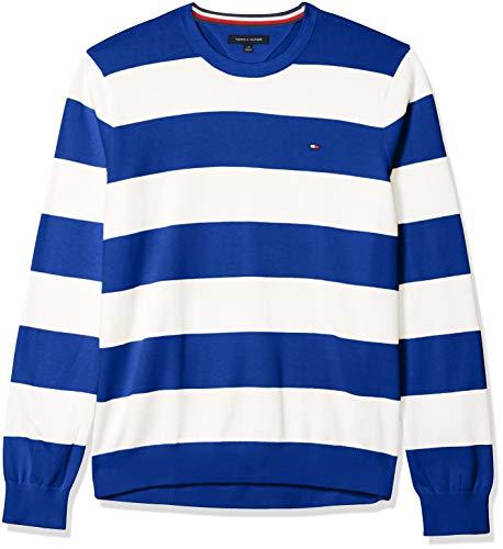 Tommy Hilfiger Herren Rugby-Pullover mit Rundhalsausschnitt -  Blau -  Mittel