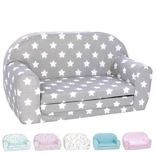 professional DELSIT Baby Sofas and Children's Sofas – European Double Sofas 2 in 1, Open Foam, European Production –…