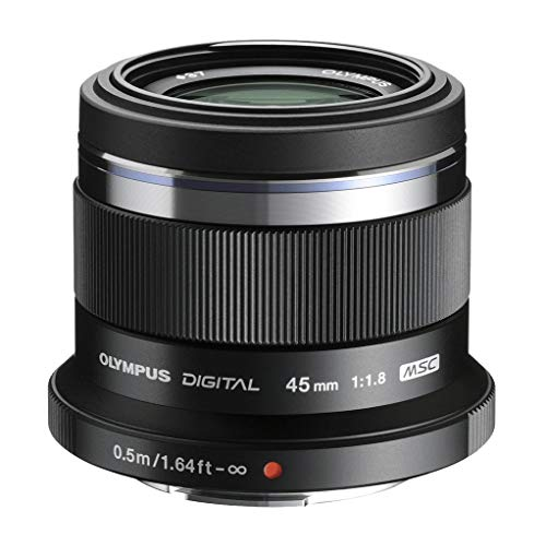 Olympus M.Zuiko Digital 45mm F1.8 Lens, for Micro Four Thirds Cameras (Black)
