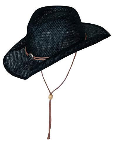SCIPPIS, Sunny, cappello di paglia estivo Nero Large/X-Large