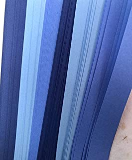Froebel/Moravian Star Strip Weaving Papers, 100 Pack, Shades Blue (5/8 inch)