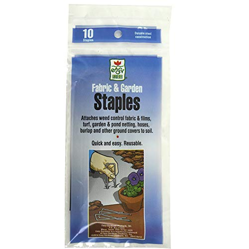 Fabric & Garden Staples Commercial Grade Attaches Landscape Fabric, Netting, and Outdoor Lighting to Soil (4.5 inches x 1 inch) 14 Gauge Garden Staple, 10 Staples