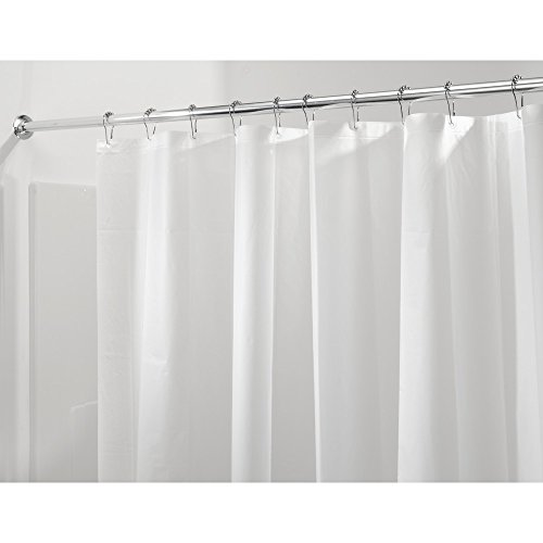 iDesign Mildew-Resistant PEVA 3 Gauge Shower Liner, Stall 54 x 78, Frost