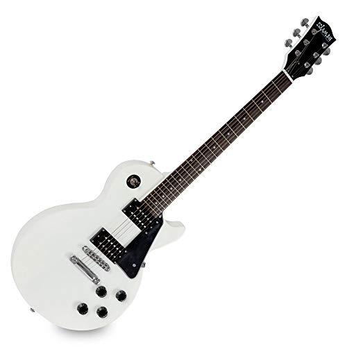 Shaman Element Series SCX-100W - E-Gitarre in Single Cut-Bauweise - geleimter Hals aus Mahagoni - Macassar-Griffbrett - weiß