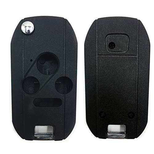 Horande Folding Car Remote Key Flip Shell Case Fit for Honda Accord Fit Odyssey Civic CR-Z Ridgeline Insight 3//2+Panic Buttons