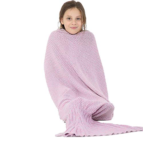 A2Z 4 Kids® Enfants Couverture Siréne Queue Crocodile Licorne Requin - Blanket. Mermaid Knitted One Size