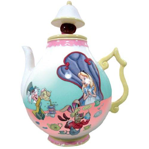 Westland Giftware - Teiera in ceramica, 20 cm, motivo: Disney Alice nel paese delle meraviglie
