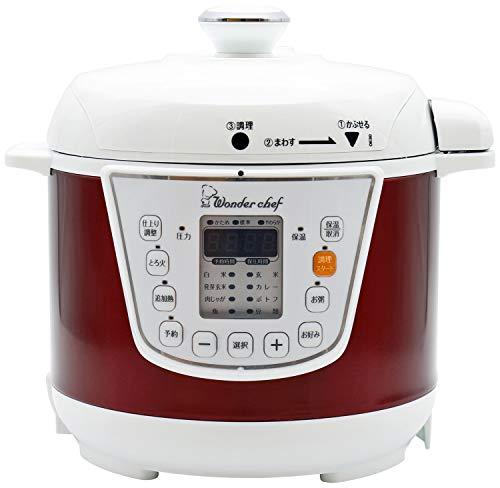 ワンダーシェフ 家庭用マイコン電気圧力鍋 3L 【浜田陽子クッキングブック付き】 OEDC30-R1 310163