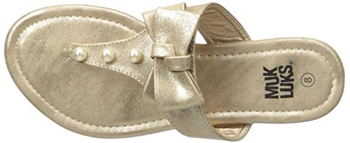 MUK LUKS Damen Women's Vienna Gold Sandale, 36 EU