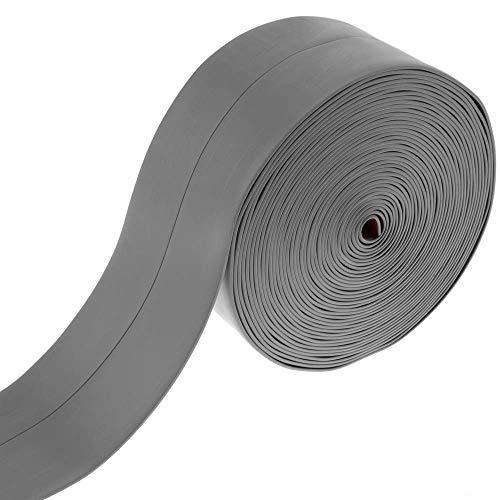PrimeMatik - Rodapié Flexible Autoadhesivo 19 x 19 mm. Longitud 10 m Gris