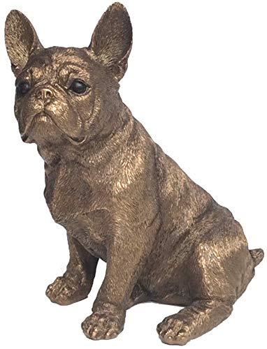 Figura Decorativa de Bulldog francés Efecto Bronce 15cm