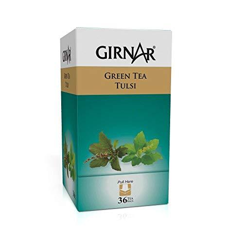 Girnar Green Tea Tulsi - 36 Tea Bags X 2 Packs