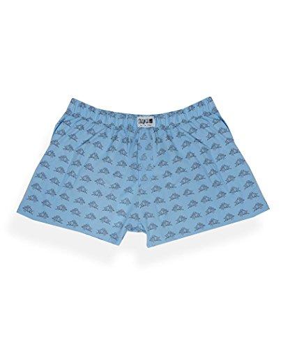 Degree Clothing Herren Boxershort - King Eichel - blau aus Bio Baumwolle Fair, Himmelblau, S